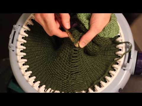 Hvordan strikke en vrangbordlue / How to knit a ribbed hat / Prym Maxi knitting mill