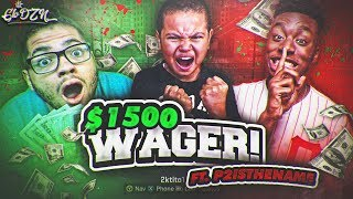 9 YEAR OLD BROTHER PLAYS STAGE FOR VC AND $1500 WAGER (REAL MONEY) FT P2istheName NBA 2K18! TROLLED!