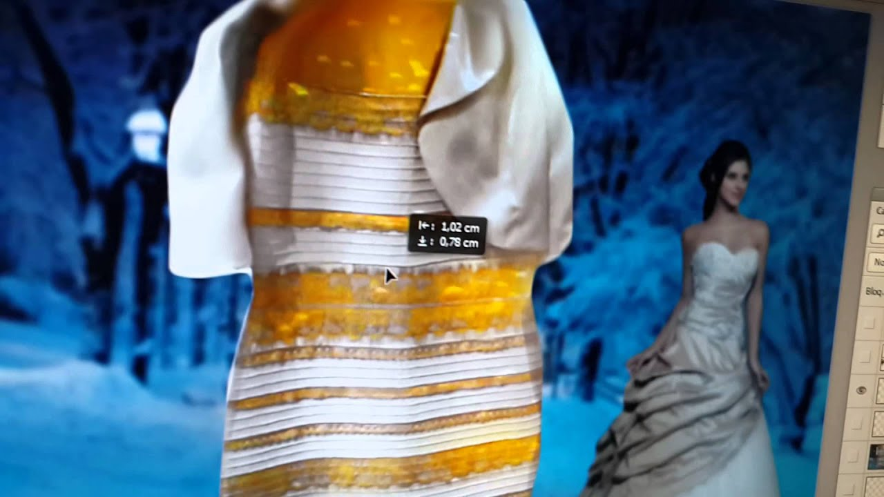 Black and blue white and yellow dress