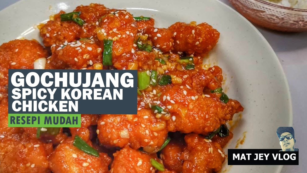 Halal Gochujang Chicken Resepi Ayam Korea Youtube