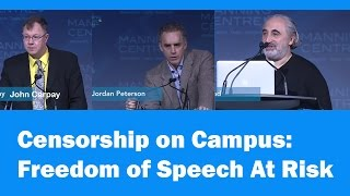 censorship on campus jordan peterson john carpay and gad saad