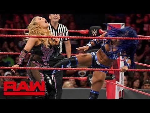 Natalya vs. Sasha Banks: Raw, Aug. 26, 2019