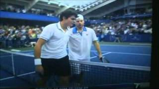 Andy Roddick Ridiculous Diving Shot on Championship Point