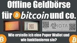 Offline Wallet für Bitcoin und co. zum ausdrucken   Paper Wallet erstellen Tutorial deutsch