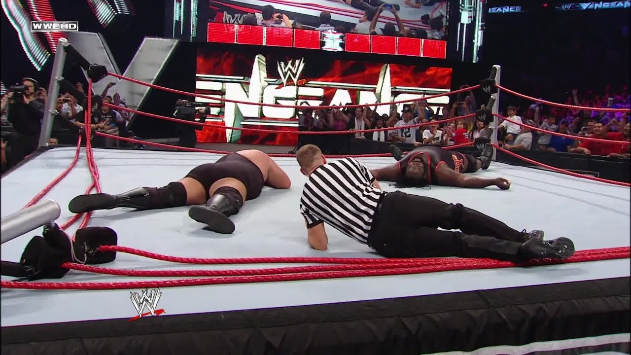 big show and mark henry obliterate the ring world heavyweight championship wwe vengeance 2011  great khali vs mark henry dailymotion er.php #2