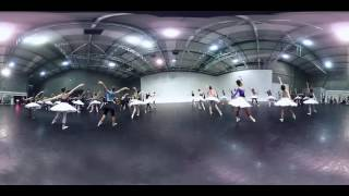 In rehearsal: Swan Lake in-the-round (360° video) | English National Ballet