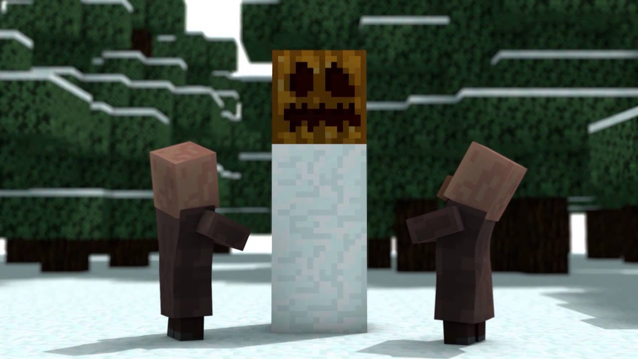 Christmas With The Villagers BACKWARDS (Minecraft Animation) - YouTube