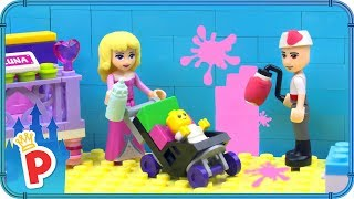 ♥ LEGO Aurora Making BABY NURSERY with Prince Phillip in Fairytale Castle