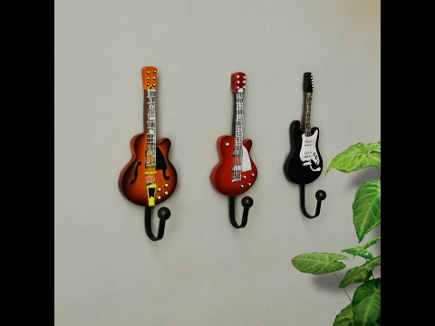 Multifunction Guitar Coat Wall Mounted Hook Kitchen Hanger Decorative Hooks 3pieces / Set