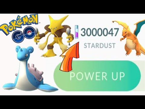 Pokémon GO POWER UP TO MAX CP w/m 3 MILL STARDUST! (pt1)