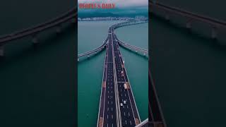 Follow the aerial video to enjoy the magnificence of the 36.48-km-long Jiaozhou Bay Bridge