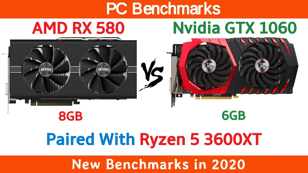 RX 580 8GB vs GTX 1060 6GB in 2020