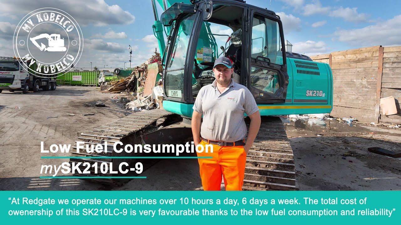 mykobelco sk210lc 9 excavator redgate united kingdom youtube