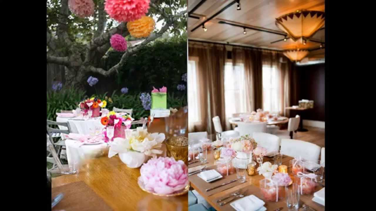 Bridal shower home decorating ideas youtube for How to decorate for a bridal shower at home