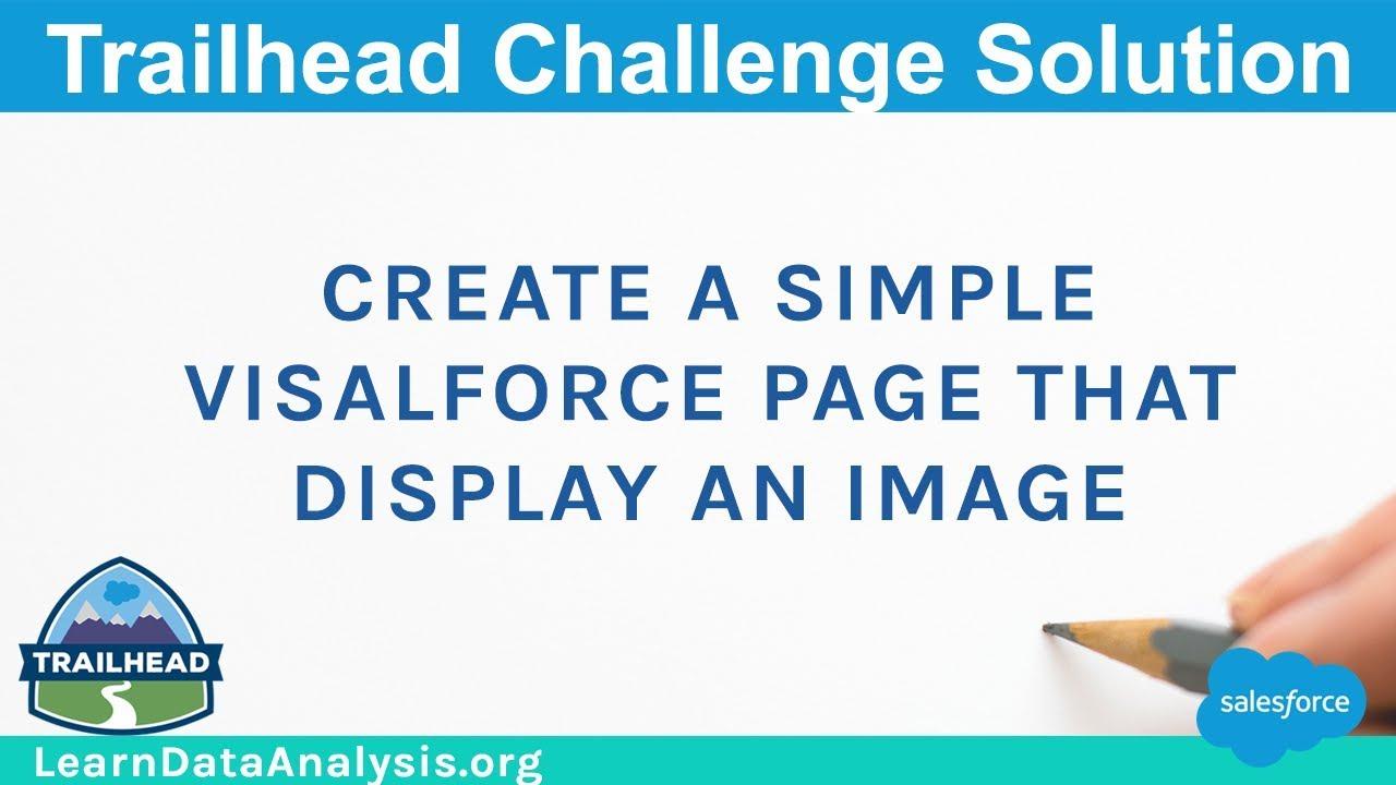 Visualforce Basics Module Trailhead Solutions