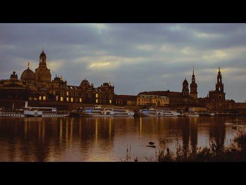 Zeitraffer Dresden bei Nacht - Dresden at night time-lapse