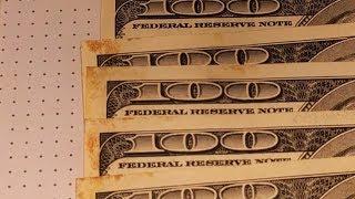 Убираем пятна, плесень на долларах. Банк не принимает доллары.