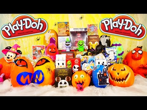 PLAY DOH Surprise Eggs Videos DCTC Halloween Special Moofia Disney Marvel Vinylmation Simpsons Toys