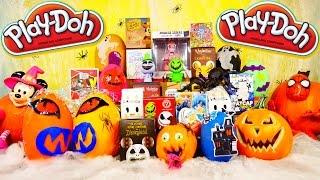 PLAY DOH Surprise Eggs Videos DCTC Halloween Special Moofia Disney Marvel Vinylmation Simpsons Toys