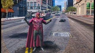 GTA 5 - Magneto attacking Los Santos (Mod v1.09)