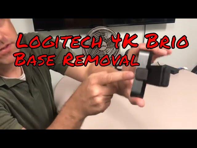 Logitech Brio 4k Webcam Base Mount Removal