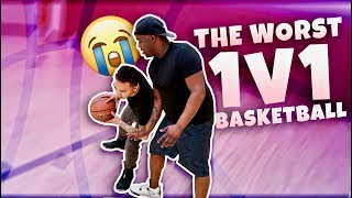 1v1 basketball vs the dub family the worst game in youtube history