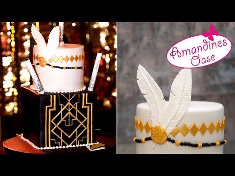 20er Jahre Torte | Great Gatsby Cake | Art Deco Fondanttorte | ♥ Schwesterchen ♥