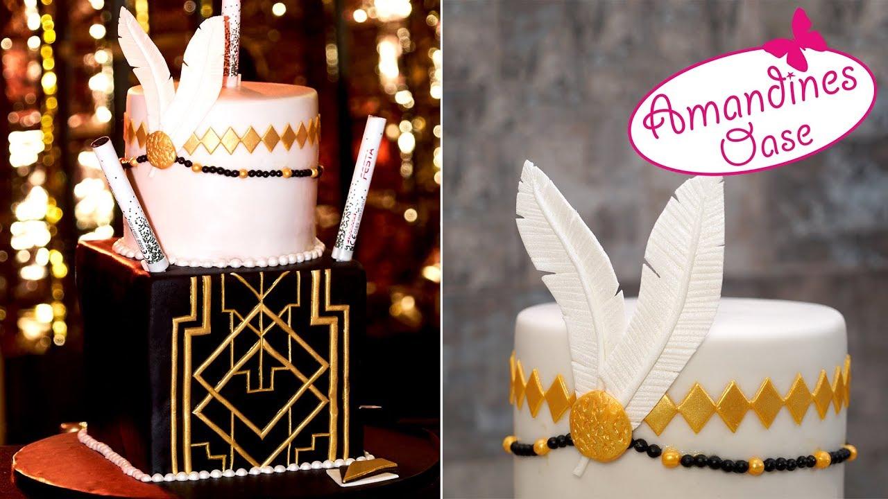 20er Jahre Torte Great Gatsby Cake Art Deco Fondanttorte