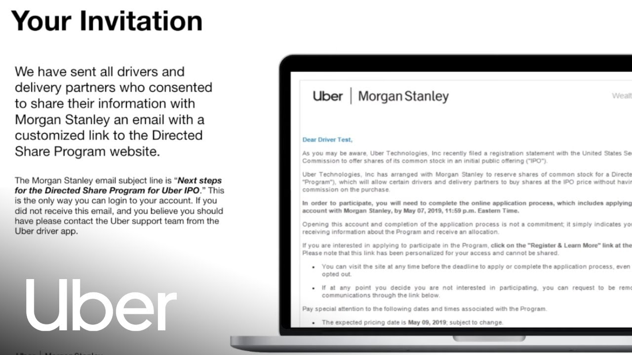 Uber Directed Share Program for IPO participation | Uber Drivers Forum
