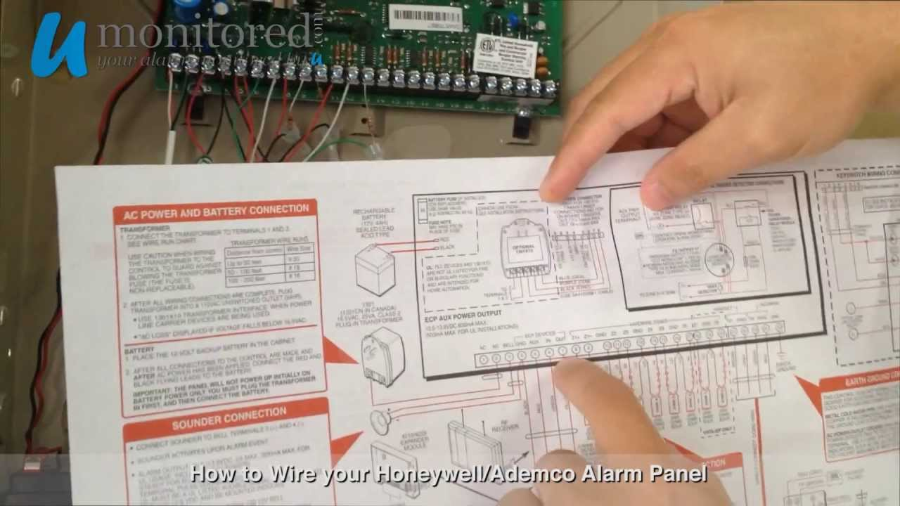 maxresdefault how to wire your honeywell ademco alarm panel youtube tg1 express wiring diagram at bayanpartner.co