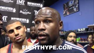 FLOYD MAYWEATHER RIPS GOLOVKIN DOUBLE STANDARD; INSISTS HE SHOULD BE THE ONE MOVING UP IN WEIGHT