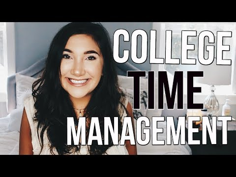 How To Manage Your Time In Col