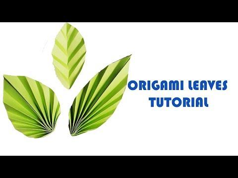 How to Make an Origami Leaf | DIY Paper Leaves making Instructions | Paper leaf DIY