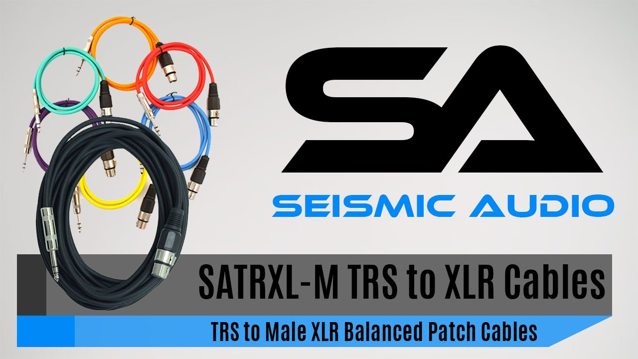 seismic audio satrxl f 1 4 trs to xlr patch cables official youtube. Black Bedroom Furniture Sets. Home Design Ideas