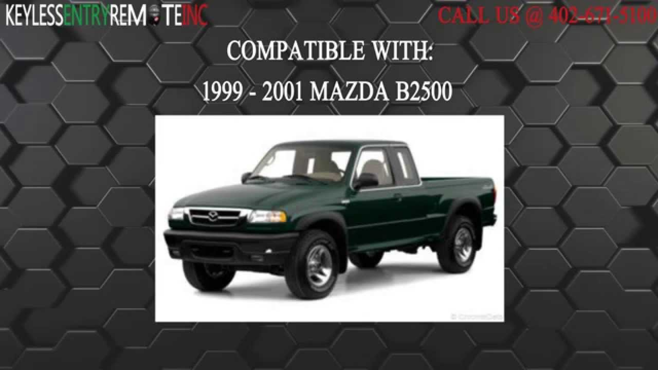 How to replace mazda b2500 key fob battery 1999 2001