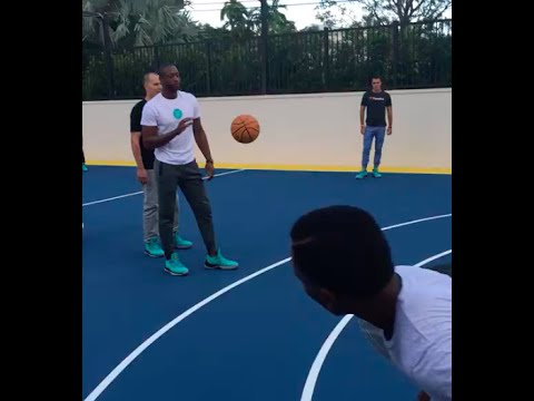 Playing Basketball (Knockout) at Dwyane Wade's House