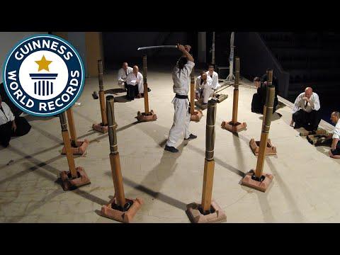 Martial arts sword cuts world record - Guinness World Records