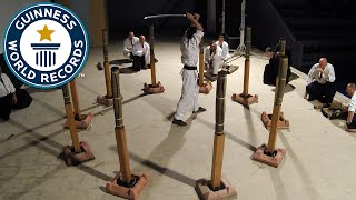 Martial arts sword cuts world record - Guinness World Records