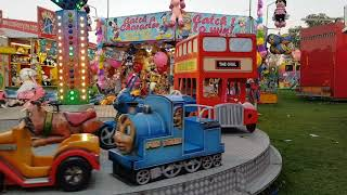 Outdoor playground for Kids/The wheels on the Bus Song