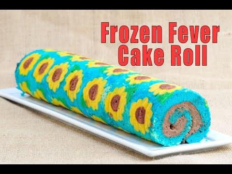 FROZEN FEVER CAKE ROLL, HANIELA'S