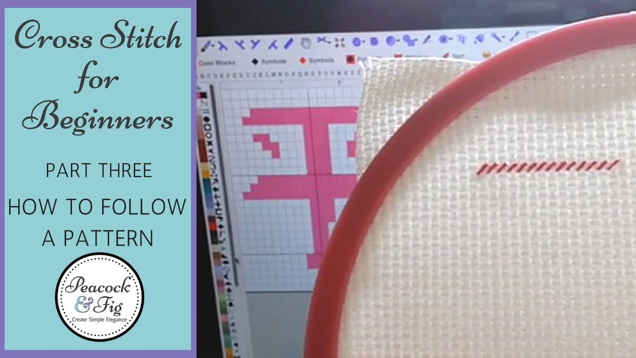 Cross Stitch Tutorial For Beginners 3 How To Follow A Cross