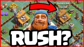 What Happens if You RUSH? Clash of Clans Builder Hall 3 - Builder Hall 4 Strategy