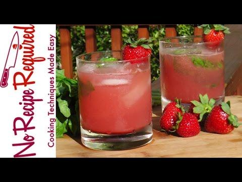 Strawberry Basil Mojito Summer Drinks NoRecipeRequired.com