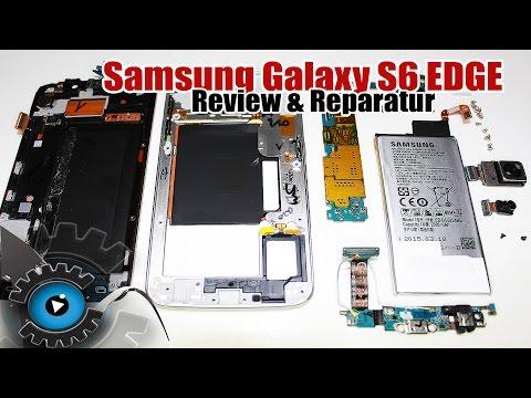 Samsung Galaxy S6 Edge Unboxing, Review, Reparatur, Teardown, Take apart, Repair [Deutsch/German]