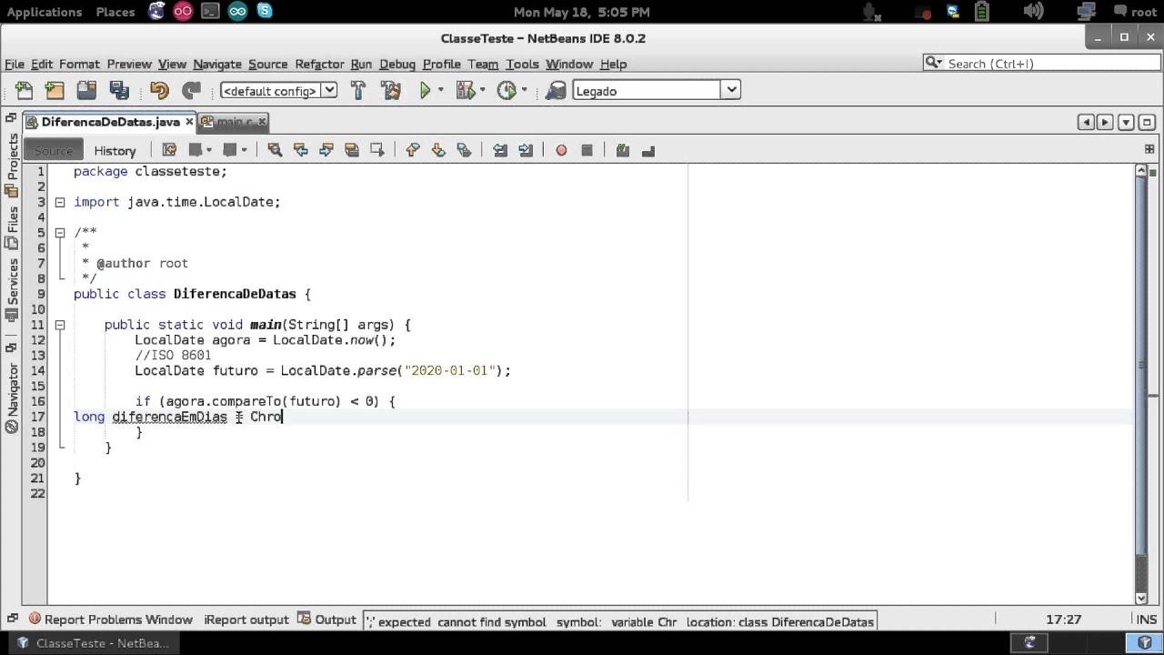 Java - Diferença entre datas com LocalDate do Java8