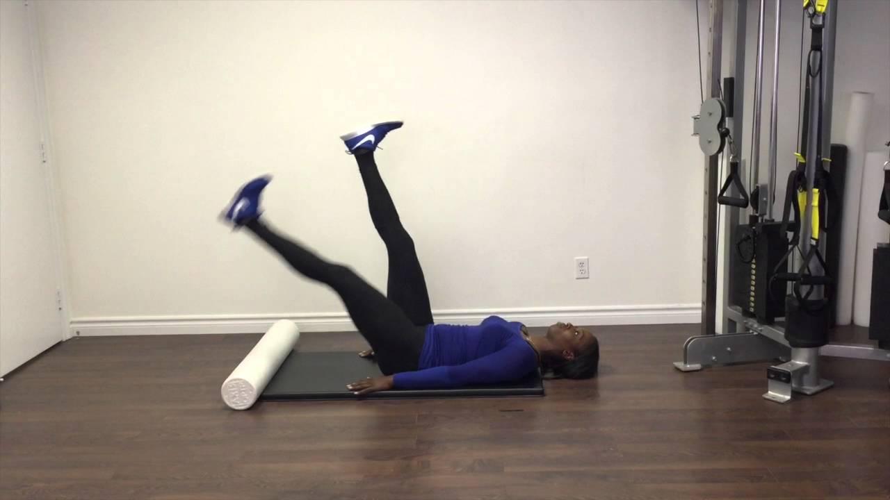 Supine Active Straight Leg Raise - YouTube