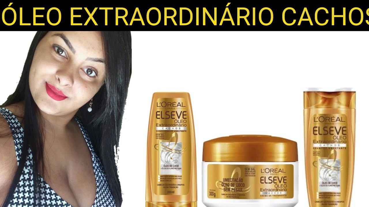 37b919e3f ELSEVE ÓLEO EXTRAORDINÁRIO CACHOS - Liberado No e Low poo (resenha ...