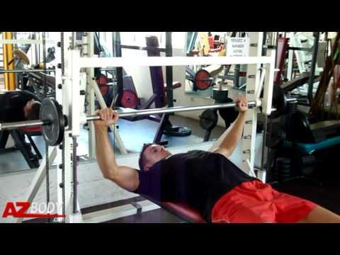 Musculation des pectoraux d velopp couch smith machine - Pectoraux developpe couche ...