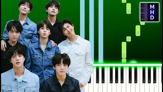BTS - Your eyes tell (Piano Tutorial Easy) @Slow Easy Piano By [MHD] @Piano Sheets By [MHD]