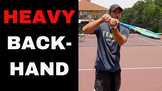 TWO HANDED BACKHAND TOPSPIN SECRETS! Learn how to improve your tennis backhand
